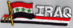 Iraq Embroidered Flag Patch, style 01.